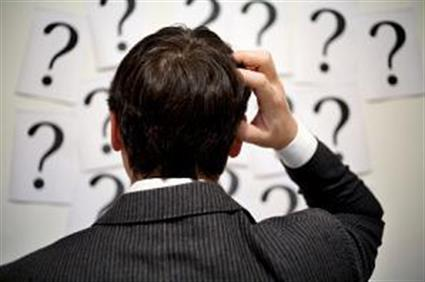confused puzzled questions thinking businessman