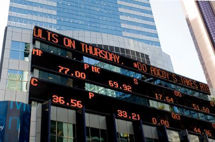 stock ticker times square financial markets